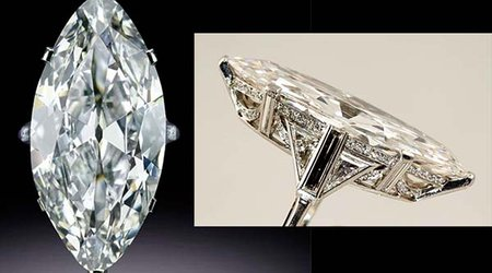 April Birthstone Feature: 'Marquise Diamond Ring' Conveys Art Deco Elegance