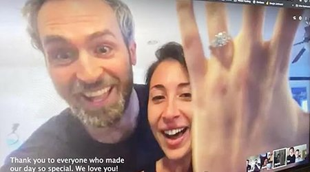 Friends and Family Witness Quarantined Couple's Marriage Proposal Via Google Hangouts